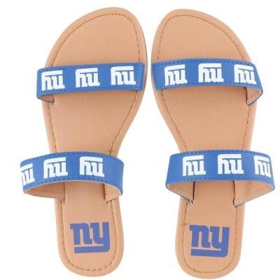 フォーエバーコレクティブルズ レディース サンダル シューズ New York Giants Women's Double-Strap Sandals