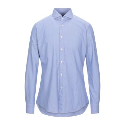 XACUS シャツ ブルー 40 コットン 100% シャツ