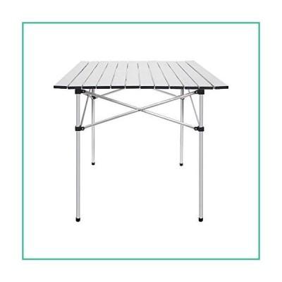 送料無料!Deanurs Folding Tables Camping Roll Up Aluminum Portable Square Table for O