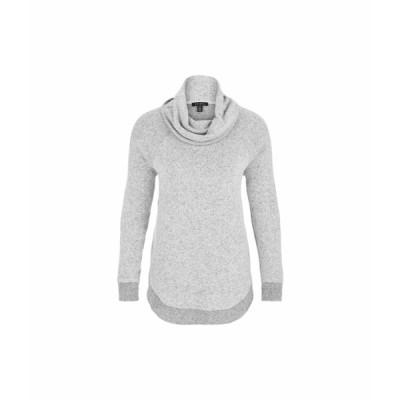 トリバル ニット&セーター アウター レディース Long Sleeve Cowl Neck Top with Shirttail Grey Mix
