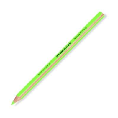 (まとめ) ステッドラー テキストサーファー ドライ蛍光色鉛筆(太軸) ネオングリーン 128 64-5 1セット(12本) 〔×3セット〕
