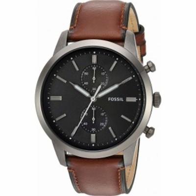 フォッシル Fossil メンズ 腕時計 クロノグラフ Townsman Chronograph Watch FS Smoke Amber Leather