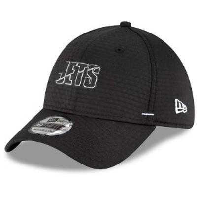 ニューエラ メンズ 帽子 アクセサリー New York Jets New Era 2020 NFL Summer Sideline 39THIRTY Flex Hat Black