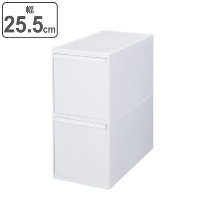 ゴミ箱 40L 2段 分別 引き出しステーション ワイド 幅25.5cm キッチン 収納 ( ごみ箱 40リットル 隙間 25.5cm 引き出し キャスター 隙間収納 )