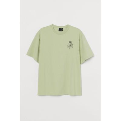 H&M - オーバーサイズTシャツ - イエロー