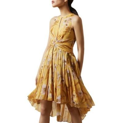 テッドベーカー レディース ワンピース トップス Fabulas Cabana Pleated Dress YELLOW