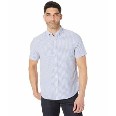 ラルフローレン シャツ トップス メンズ Classic Fit Seersucker Shirt Blue/White