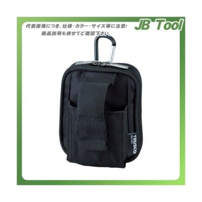 TRUSCO コンパクトツールケースワイド 2ポケット ブラック TCTC1803W-BK