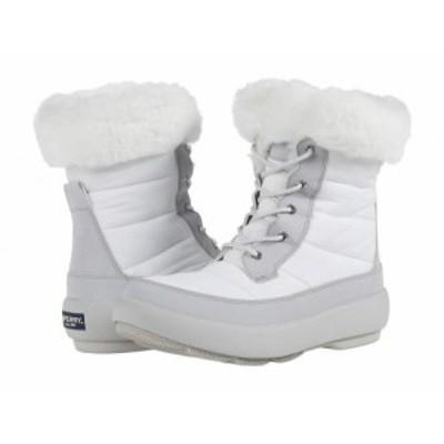 Sperry スペリー レディース 女性用 シューズ 靴 ブーツ スノーブーツ Bearing PlushWave Boots Nylon Off-White/Grey【送料無料】