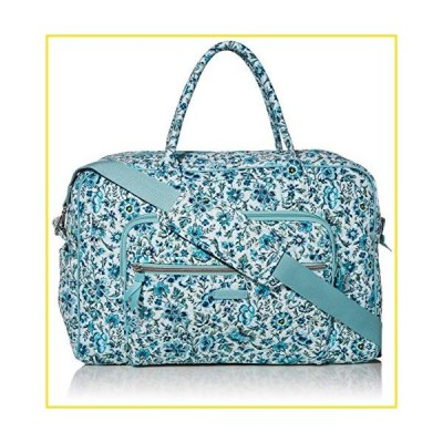 新品Vera Bradley Signature Cotton Weekender Travel Bag, Cloud Vine並行輸入品