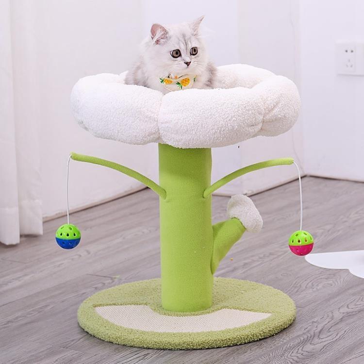 貓跳台 貓樹一體貓抓住貓抓板貓架子貓樹小型跳台貓咪攀爬樹屋【免運】
