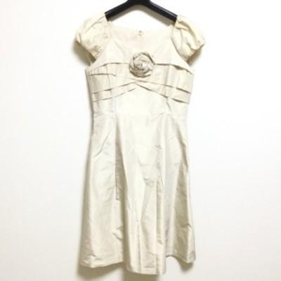フランコフェラーロ FRANCO FERRARO ドレス サイズ3 L レディース - ベージュ 半袖/ロング【中古】20210324