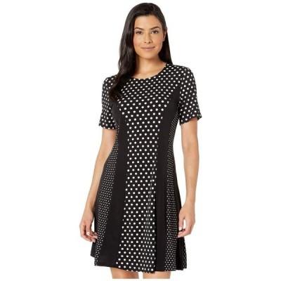 マイケル コース MICHAEL Michael Kors レディース ワンピース ワンピース・ドレス Mod Dot Combo Dress Black/Bone