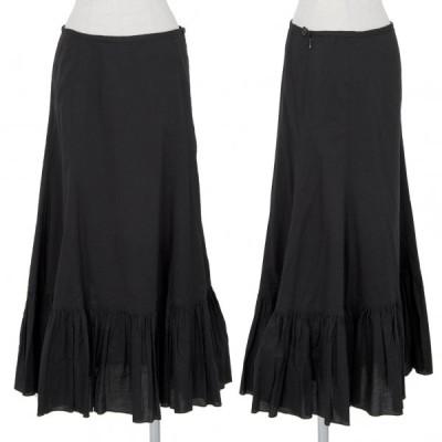 ユナイテッドアローズ ピンクレーベルUNITED ARROWS PINK Label コットンギャザー切替スカート 黒M 【レディース】