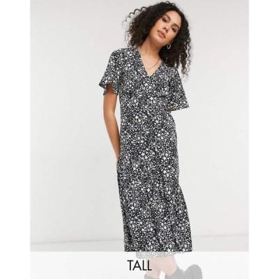 ニュールック New Look Tall レディース ワンピース ティアードドレス ワンピース・ドレス Tiered Hem Midi Dress In Star Print マルチカラー
