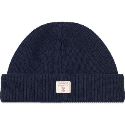 ナイジェルケーボン Nigel Cabourn メンズ ニット ビーニー 帽子 Solid Beanie Black Navy