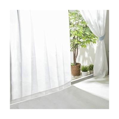アイリスプラザ レースカーテン UVカット プライバシーカット 外から見えにくい 断熱 保温 2枚組 洗える 洗濯機対応 幅100cm×丈198cm