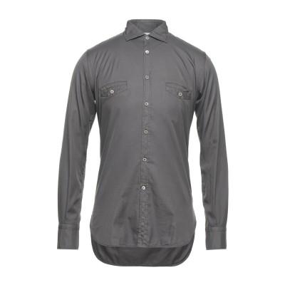 DEL SIENA シャツ 鉛色 38 コットン 100% シャツ