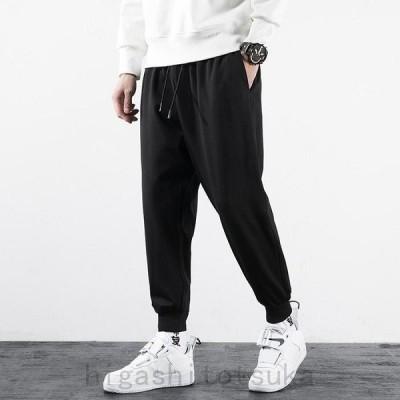 春 新品 大きいサイズの服 メンズ スウェットパンツ スエットパンツ 裾リブ ストレッチ パンツ ジョガーパンツ カジュアルパンツ スポーツパンツ
