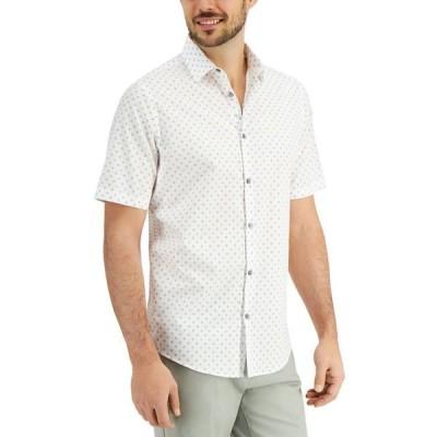アルファニ メンズ シャツ トップス Men's Dot Print Shirt