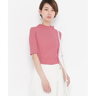 SENSE OF PLACE by URBAN RESEARCH / ラメハイネックフリルTシャツ(5分袖) WOMEN トップス > Tシャツ/カットソー