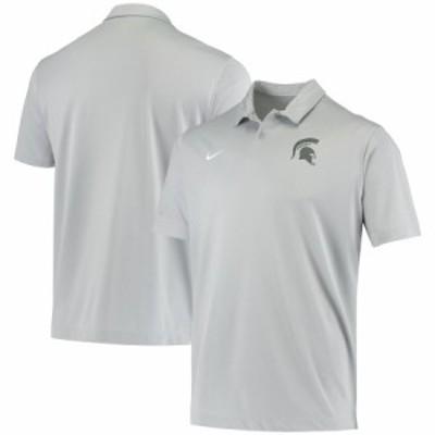 """ナイキ メンズ ポロシャツ """"Michigan State Spartans"""" Nike College Performance Polo - Gray"""