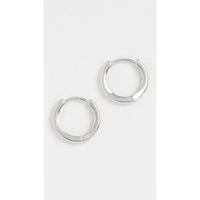 アディナズ ジュエルズ Adina's Jewels レディース イヤリング・ピアス ジュエリー・アクセサリー Plain Ring Huggie Earrings Silver