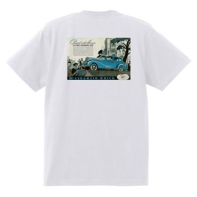 アドバタイジング ビュイック 352 白 Tシャツ 黒地へ変更可能  1937 スーパー リビエラ センチュリー ロードマスター スペシャル