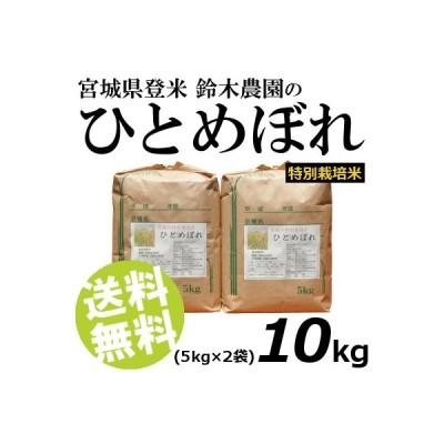 お米 10kg 白米 ひとめぼれ 宮城県登米産 精白米 特別栽培米 5kg×2袋 送料無料 贈答品 お取り寄せ