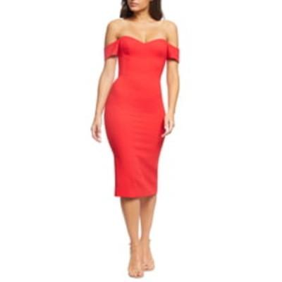 ドレスザポプレーション ワンピース トップス レディース Bailey Off the Shoulder Body-Con Dress Rouge