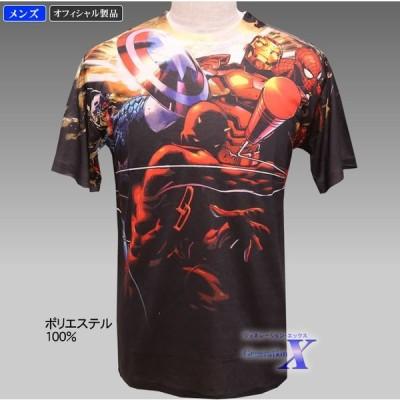 【マーベルコミック・オフィシャル製品】メンズTシャツ(オールプリント)
