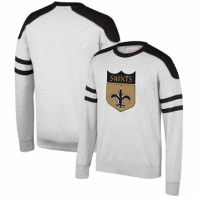 Mitchell & Ness ミッチェル アンド ネス 服 スウェット Mitchell & Ness New Orleans Saints Heathered Gray Post Seas