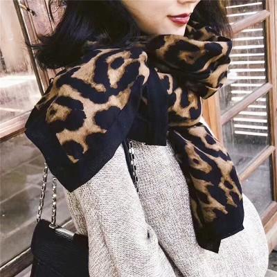 シルクスカーフのロングモデル2020新型ヒョウ柄マフラー女性春秋韓国版マフラー保温マフラー超大型ストール