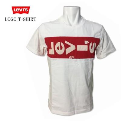LEVI'S(リーバイス) 半袖 プリント Tシャツ 横向き ビッグロゴ  ホワイト 白 ハウスマーク 定番 カジュアル  69846