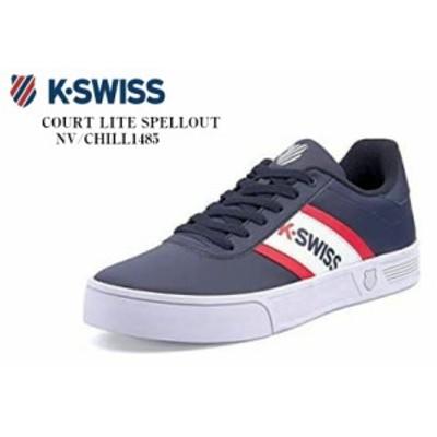 K-SWISS (ケースイス)COURT LITE SPELLOUT S 76148 カジュアルコートスニーカー ヒールやタンにはK-SWISSのDNAをトリビュートした