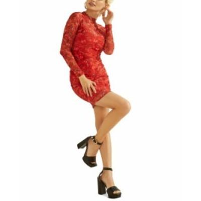 ゲス レディース ワンピース トップス Nadine Sheer Printed Bodycon Dress Flutter Peonies Print