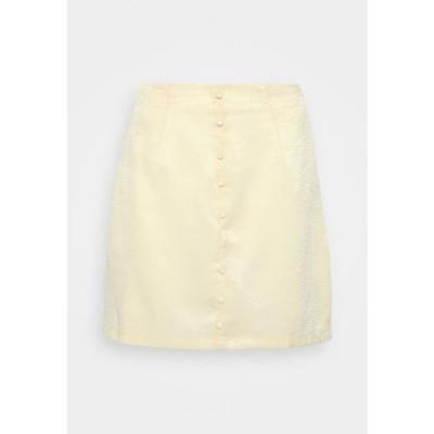 ミスガイデッド レディース ファッション BUTTON THROUGH MINI SKIRT - A-line skirt - yellow