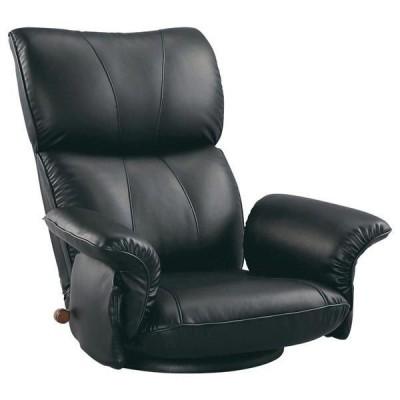 宮武製作所 スーパーソフトレザー座椅子-匠- ブラック (直送品)