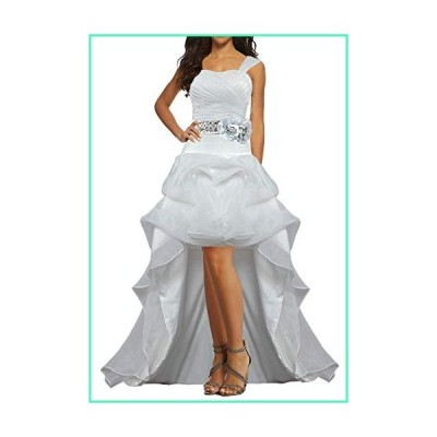 Unbranded* Women's Short Front Long Back Bridal Wedding Dress Gowns with Sashes Size 16 US White C並行輸入品