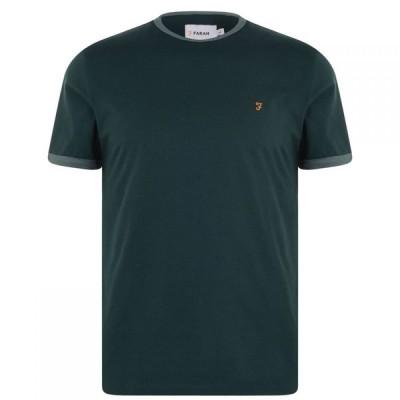 ファーラーヴィンテージ Farah Vintage メンズ Tシャツ トップス Graves Ringer T Shirt Emerald