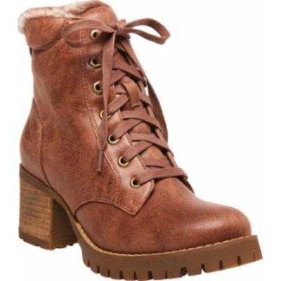 スティーブ マデン レディース ブーツ・レインブーツ シューズ Comfort Ankle Bootie Tan Synthetic Leather