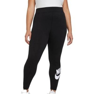 ナイキ レディース カジュアルパンツ ボトムス Nike Women's Plus Size Essential Futura Leggings Black/White