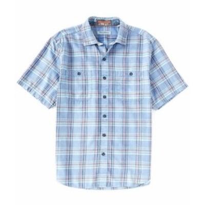 トッミーバハマ メンズ シャツ トップス Sahara Sun Fade Short-Sleeve Woven Shirt Dutch Blue