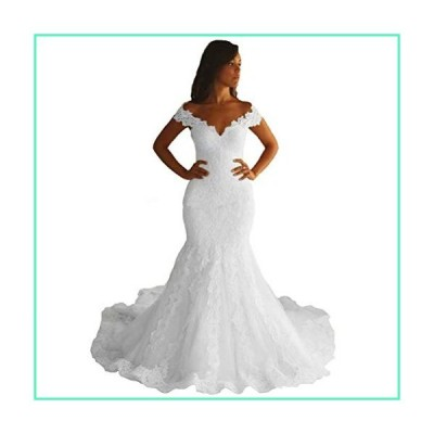 FJMM Womens Sweetheart Lace Beaded Wedding Dresses A-Line Bridal Gowns US24W White並行輸入品