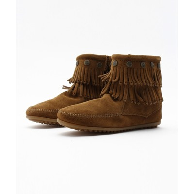 EMC RETAIL STORE / MINNETONKA(ミネトンカ) / ダブルフリンジ サイドジップブーツ DOUBLE FRINGE SIDE ZIP UP BOOT WOMEN シューズ > ブーツ