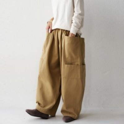 パンツ ワーク感あるゆったりシルエットに大きめのポケットがアクセント。・メール便不可
