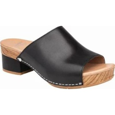 Dansko レディースシューズ Dansko Maci Slide Black Full Grain Lea