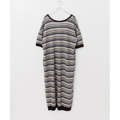 【アーバンリサーチ】 R JUBILEE Linen Striped Dress レディース NAVY S URBAN RESEARCH