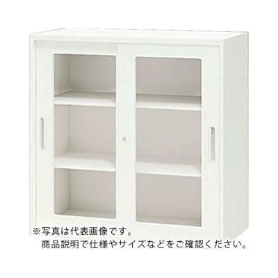 ナイキ ガラス両開き書庫 (CW-0909KG-WW) (株)ナイキ (メーカー取寄)