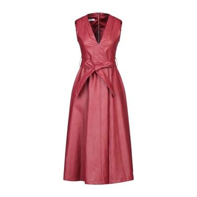 TENAX 7分丈ワンピース・ドレス ボルドー 44 ポリウレタン 50% / レーヨン 50% 7分丈ワンピース・ドレス